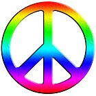 Rainbow Peace Sign by 321Outright