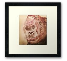 Angry Gorilla Framed Print