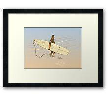Torquay shorebreak Framed Print