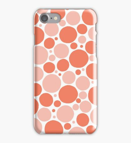 Freehand spots in peach and white iPhone Case/Skin