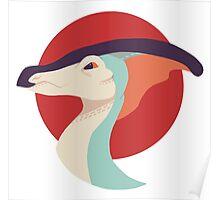 Parasaurolophus (Retro) Poster