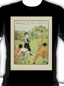 The Buckle My Shoe Picture Book by Walter Crane 1910 17 - Five Six Pick up Sticks Seven Eigt Lay Them Straight T-Shirt