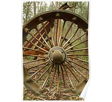 Logging Wheel Poster