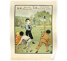 The Buckle My Shoe Picture Book by Walter Crane 1910 17 - Five Six Pick up Sticks Seven Eigt Lay Them Straight Poster