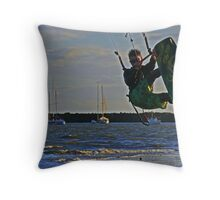Wave chaser Throw Pillow