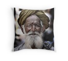 ' Old Man Turban ' Throw Pillow