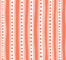 Freehand stripes in peach and white by bunyipdesigns