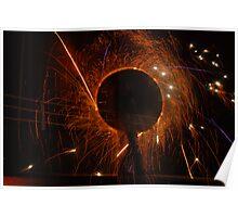 fire poi , twist fire work  Poster
