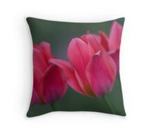 Dwarf Tulips Throw Pillow