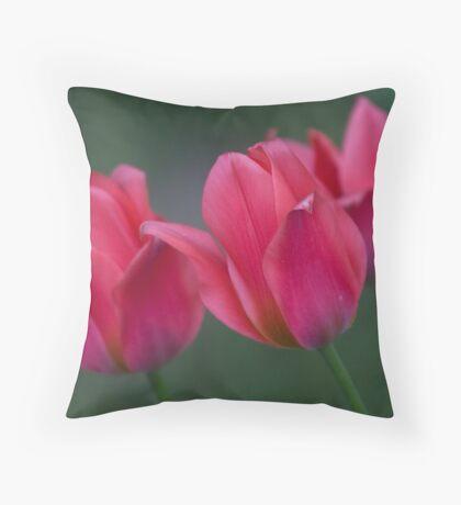 Dwarf Tulips Throw Pillow