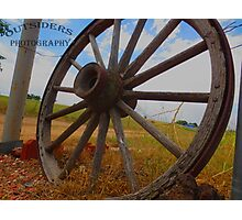 Wagon Wheel Photographic Print