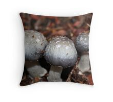 Little mushrooms Throw Pillow