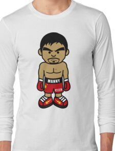 Angry Manny Pacquiao Cartoon by AiReal Apparel Long Sleeve T-Shirt