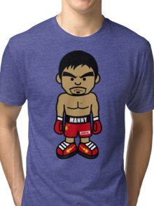 Angry Manny Pacquiao Cartoon by AiReal Apparel Tri-blend T-Shirt