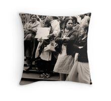 Tamil Protest at Swanston Street Melbourne Throw Pillow