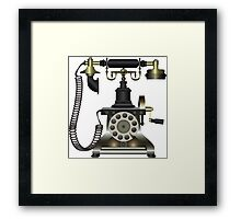 retro phone Framed Print