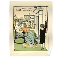 The Buckle My Shoe Picture Book by Walter Crane 1910 22 - Eleven Twelve Ring the Bell Poster