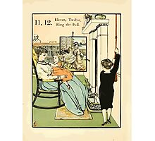 The Buckle My Shoe Picture Book by Walter Crane 1910 22 - Eleven Twelve Ring the Bell Photographic Print