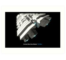 8 Bit Pixel Spaceship Leviathan Class Space Carrier - The Duke Art Print