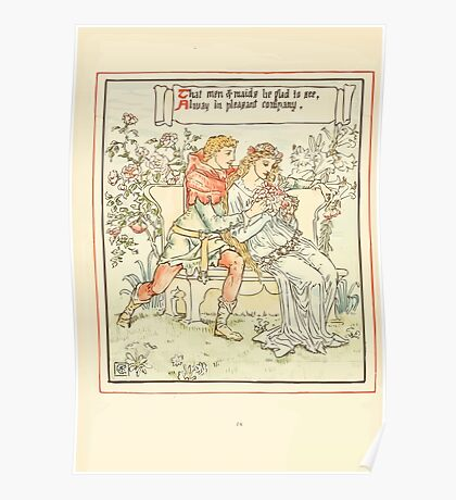 Queen Summer, or, The Tourney of the Lilly and the Rose by Walter Crane 1891 32 - That men and maids be glad to see Poster