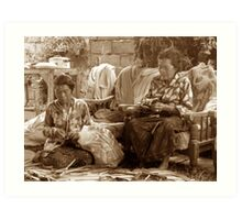 Balinese Sisters Art Print