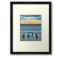 Dawn Swimmers Framed Print