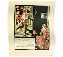 Cinderella Picture Book containing Cinderella, Puss in Boots, and Valentine and Orson Illustrated by Walter Crane 1911 51 - The Green Knight Poster