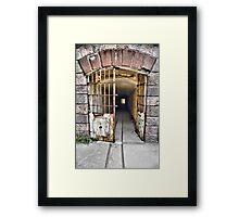 Tunnel leading to machine rooms, Bateria de Cenizas, Costa Calida, Spain  Framed Print