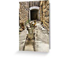 Ammo trollies! Bateria de Cenizas, Costa Calida, Spain  Greeting Card