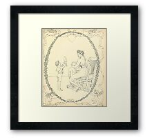 The Buckle My Shoe Picture Book by Walter Crane 1910 61 - Mid Plate Two Framed Print