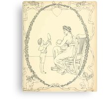 The Buckle My Shoe Picture Book by Walter Crane 1910 61 - Mid Plate Two Canvas Print