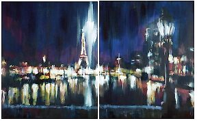 Paris at night by Samuel Durkin