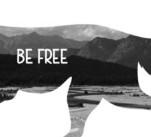 Be Free Fox Silhouette  Sticker
