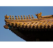 Forbidden City, Beijing - Roof Detail Photographic Print