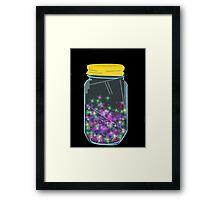 Glitter Jar Framed Print