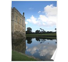 Moat Reflection with Castle Poster