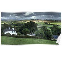 Devon countryside scene Poster