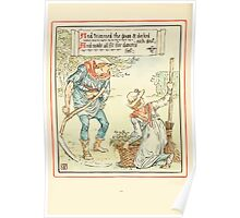Queen Summer, or, The Tourney of the Lilly and the Rose by Walter Crane 1891 42 - And trimmed the grass and decked each seat Poster