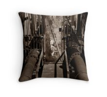 Bridge Carrying Pipes Throw Pillow