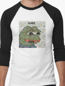 Rare Pepe - Frog Meme Compilation Men's Baseball ¾ T-Shirt