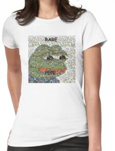 Rare Pepe - Frog Meme Compilation Womens Fitted T-Shirt