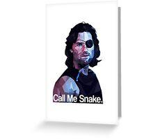 Call me snake. Greeting Card