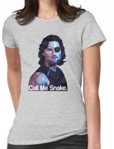 Call me snake. Womens Fitted T-Shirt