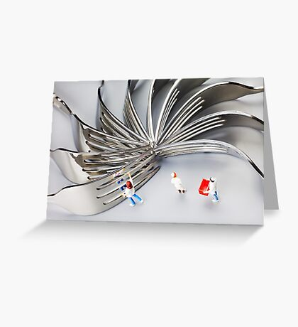 Chef And Forks Greeting Card