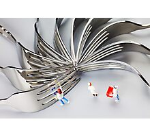 Chef And Forks Photographic Print