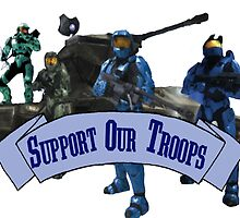 Support Our Troops - Blue Team by JezaXC
