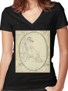 The Buckle My Shoe Picture Book by Walter Crane 1910 60 - Mid Plate Women's Fitted V-Neck T-Shirt