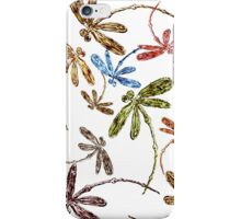 Dragonfly Frenzy Rainbow iPhone Case/Skin