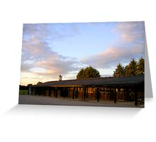 Sunset at the stables.. Greeting Card