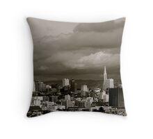 Rainy Day in San Francisco Throw Pillow